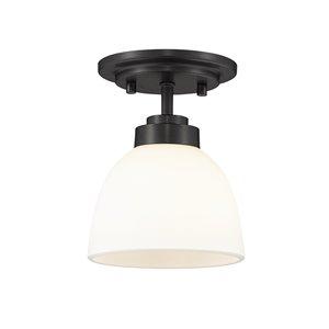 Plafonnier Ashton de Z-Lite à 1 Ampoule, noir mat, 6 po x 6 po