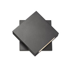 Luminaire mural extérieur Quadrate de Z-Lite 1 ampoule DEL, noir