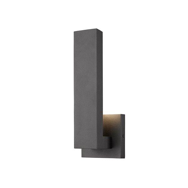 Z-Lite Edge LED 1-Light Outdoor Wall Sconce in Black Satin Finish