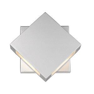 Luminaire mural extérieur Quadrate de Z-Lite 2 ampoules DEL, argent