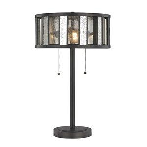 Lampe de table à 2 ampoules Juturna de Z-Lite au fini bronze, 23 po