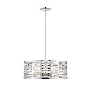Luminaire suspendu Cronise de Z-Lite à 5 lumières, chrome