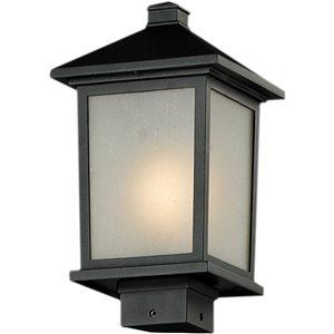 Luminaire extérieur Holbrook de Z-Lite pour poteau fini noir, 8.12 po x 14 po