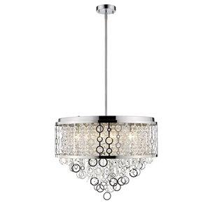 Luminaire suspendu Bijou de Z-Lite à 9 ampoules, chrome