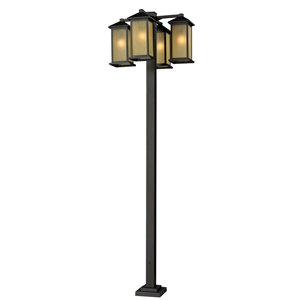 Z-Lite Vienna 4 Head Outdoor Post in Oil Rubbed Bronze - 99-in
