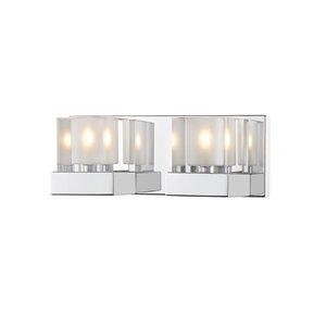 Luminaire de vanité pour salle de bain Fallon de Z-Lite à 2 ampoules, fini chrome