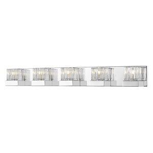 Luminaire de vanité pour salle de bain Fallon de Z-Lite à 5 ampoules, chrome