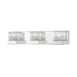 Luminaire de vanité pour salle de bain Fallon de Z-Lite à 3 ampoules, chrome