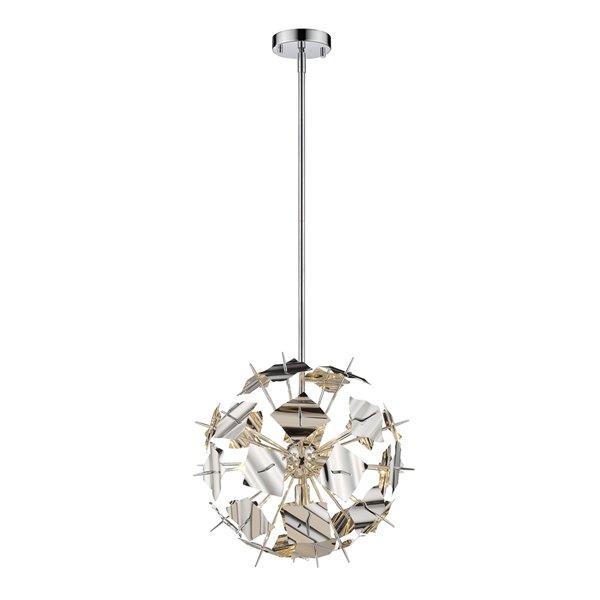 Luminaire suspendu Branam de Z-Lite à 5 ampoules, chrome