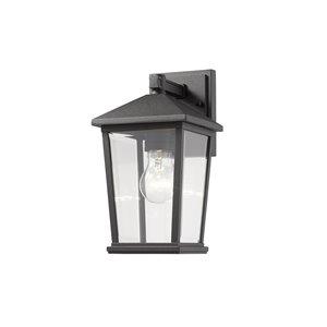 Luminaire mural extérieur Beacon de Z-Lite 1 ampoule applique murale extérieure en noir