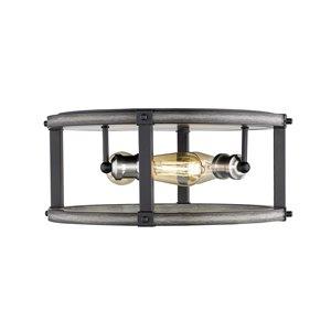 Plafonnier Kirkland de Z-Lite à 3 lumières, bois de grange, 16,25 po