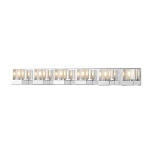Luminaire de vanité pour salle de bain Fallon de Z-Lite à 6 ampoules, chrome et verre clair