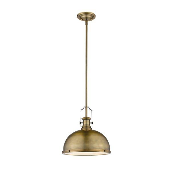 Z-Lite Melange 1-Light Pendant in Heritage Brass