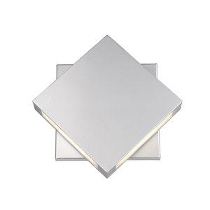 Luminaire mural extérieur Quadrate de Z-Lite 2 ampoules DEL, étain poli