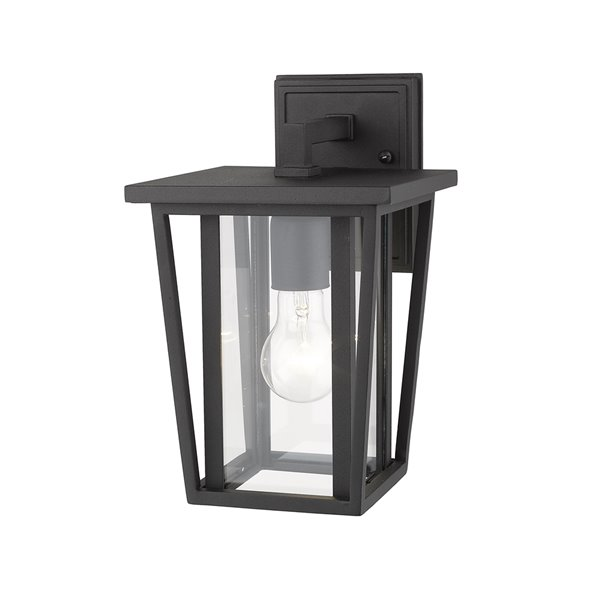 Z-Lite Seoul 1-Light Outdoor Wall Sconce in Black