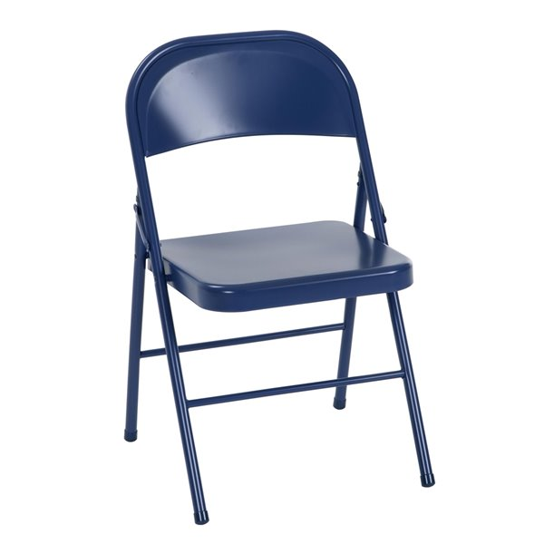 Chaise en acier de Cosco, bleu marine