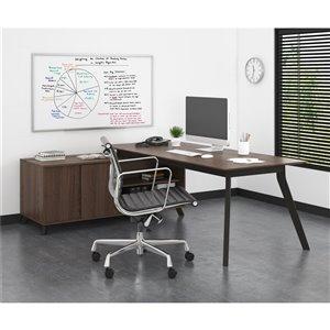 AX1 L-Shape Desk, Medium Brown