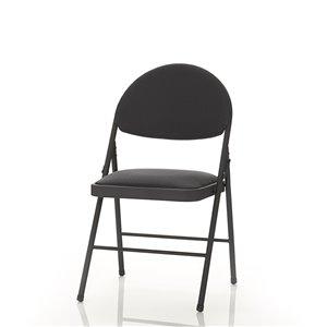 Chaise pliante confort en tissu Cosco, 4 mcx, noir