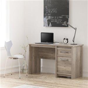 Bassinger Bureau d'ordinateur, chêne gris