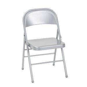 Chaise en acier de Cosco, argent