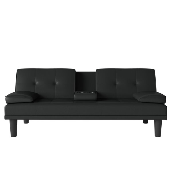 Canapé-lit futon avec porte-gobelet et  2 oreillers Marley de Dorel