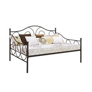 Canapé-lit en métal Victoria de DHP, brun