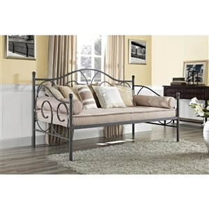Canapé-lit en métal Victoria de DHP, simple, noir