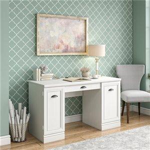 Delaney Double Pedestal Desk, White