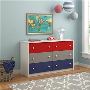 Kaleidoscope 6 Drawer Dresser - Classic