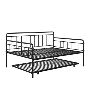 DHP Wallace Metal Daybed with Trundle - Black