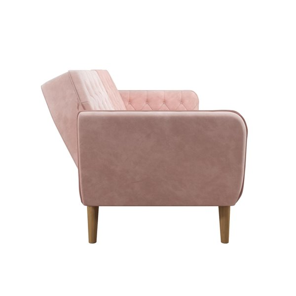 Novogratz Tallulah Memory Foam Futon - 83-in  x 33.5-in  x 32.5-in - Pink