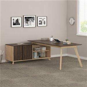 AX1 L-Shape Desk, Walnut