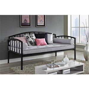 Canapé-lit en métal Ava de DHP, noir