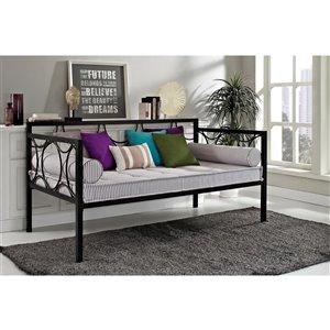 Canapé-lit en métal Rebecca de DHP, noir