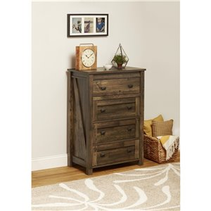 Farmington 4 Drawer Dresser - Rustic