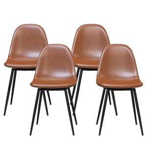 Calvin Chaise à manger rembourré (Ensemble de 4)
