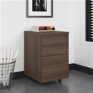 Ameriwood AX1 Mobile File Cabinet - Medium Brown