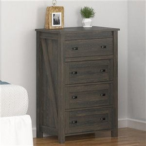 Farmington 4 Drawer Dresser - Weathered Oak