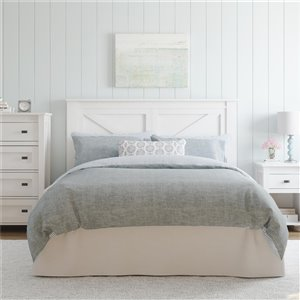 Ameriwood Farmington Headboard - Queen - Ivory Oak