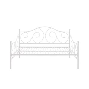 DHP Victoria Full Size Metal Daybed - White