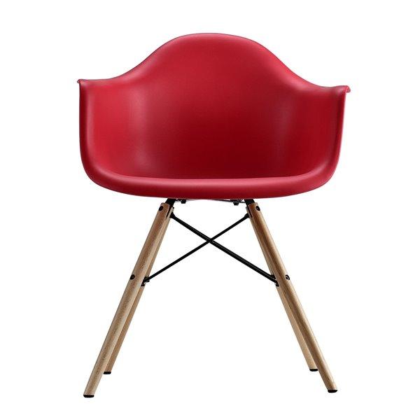 Mid Century Modern Molded Arm Chair with Wood Leg