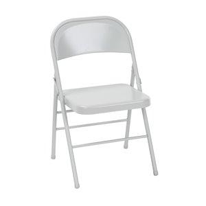 Chaise en acier de Cosco, gris