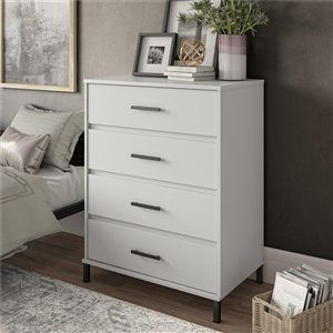 Ameriwood Brewer 4-Drawer Dresser - White
