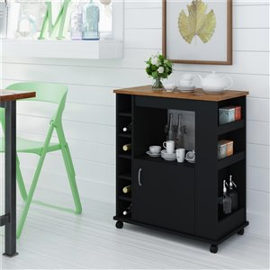 Ameriwood Williams Kitchen Cart - Black