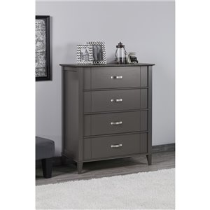 Quinn 4 Drawer Dresser - Graphite Gray