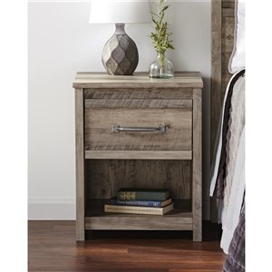 Ameriwood Bassinger Nightstand - Grey Oak