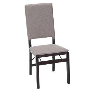 Chaise pliante en tissu et bois avec rangement Parsons de Cosco
