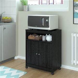 Ameriwood Landry Microwave Cart - Black Oak