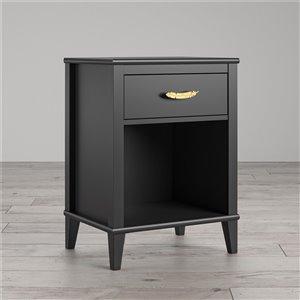 Table de nuit Monarch Hawken de Ameriwood, noir