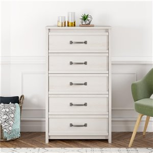 Bassinger 5 Drawer Dresser - Ivory Oak